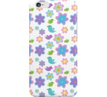 Flowers and birds iPhone Case/Skin