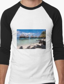 bungalows on stilts at a resort hotel T-Shirt