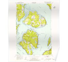 USGS Topo Map Washington State WA Anderson Island 239827 1948 24000 Poster