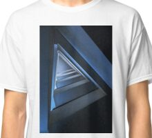 Triangle staircase in blue tones Classic T-Shirt