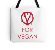 V for vegan Tote Bag