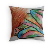 Naked wild lady Throw Pillow