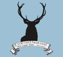 """If you can't beat God.."" - Will Graham / Hannibal  One Piece - Short Sleeve"
