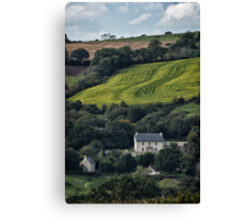 The House On The Side Of The Hill Canvas Print