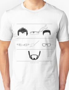 The Beard Remains the Same (WITH TEXT) Unisex T-Shirt