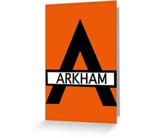 Batman : Arkham Asylum Greeting Card