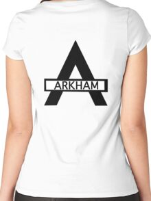 Batman : Arkham Asylum Women's Fitted Scoop T-Shirt