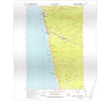 USGS Topo Map Washington State WA Moclips 242356 1955 24000 Poster