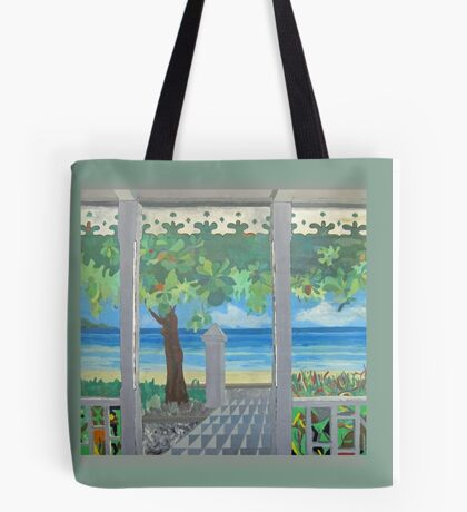 Stacy's Hillsview Guesthouse-1966-Montego Bay Tote Bag
