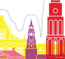 Groningen skyline pop Sticker