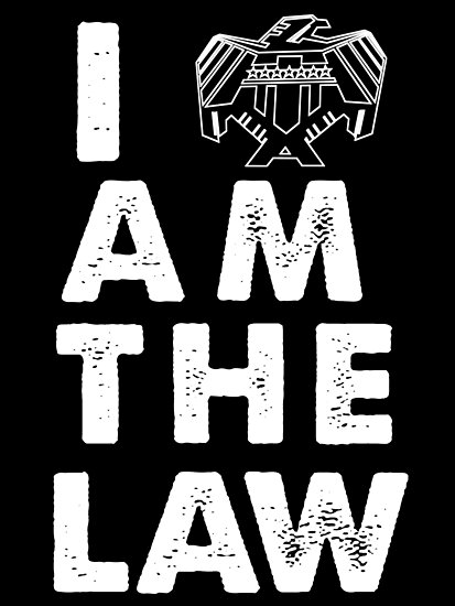 I am the law [white] by nimbusnought
