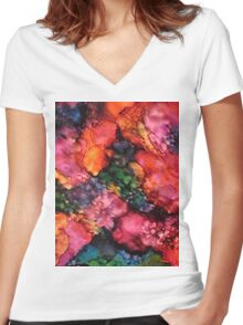 Abstract 998 Women's Fitted V-Neck T-Shirt