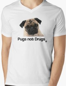 Pugs not Drugs Mens V-Neck T-Shirt
