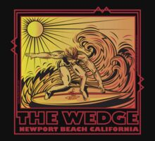 THE WEDGE NEWPORT BEACH CALIFORNIA by Larry Butterworth