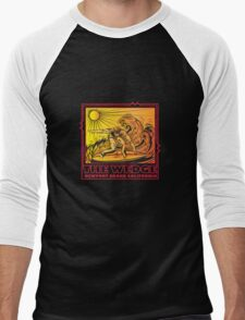 THE WEDGE NEWPORT BEACH CALIFORNIA Men's Baseball ¾ T-Shirt
