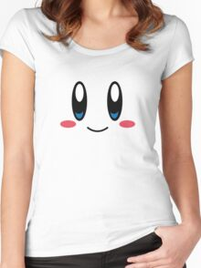 Kirby Face Women's Fitted Scoop T-Shirt