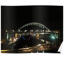 Tyne at Night Poster