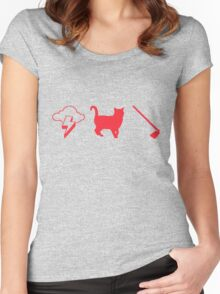 Thunder Cat Hoe Women's Fitted Scoop T-Shirt