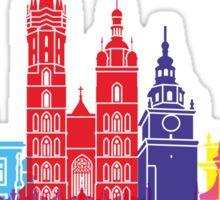 Krakow skyline pop Sticker