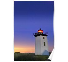 Wood End Lighthouse Cape Cod star trails Poster