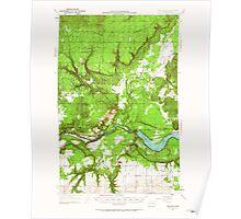USGS Topo Map Washington State WA Wellpinit 244585 1953 62500 Poster