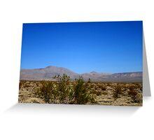 Desert Blues Greeting Card