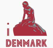 I LOVE DENMARK T-shirt by ethnographics