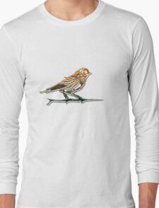 Steampunk bronze finch Long Sleeve T-Shirt