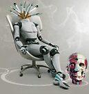 Robot Having a 2 minute Break. by Andrew Nawroski