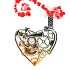 Steampunk bronze heart by Angelaook