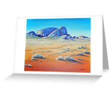 Outback Monoliths Greeting Card