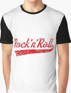 Rock 'n' Roll Vintage (Red) Graphic T-Shirt