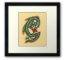 Celtic Oscar letter G (New Manuscript version) Framed Print