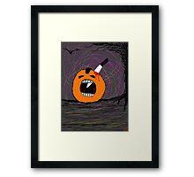 """ psychotic break Pumpkin Carving""  Halloween  Framed Print"