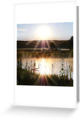 Misty sunrise by Ryan J. Zeigler