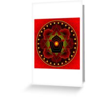 Harvest Moon Mandala Greeting Card