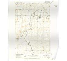 USGS Topo Map Washington State WA Warden 244535 1954 24000 Poster