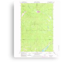 USGS Topo Map Washington State WA Aladdin Mtn 239767 1967 24000 Canvas Print