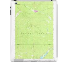 USGS Topo Map Washington State WA Aladdin Mtn 239767 1967 24000 iPad Case/Skin