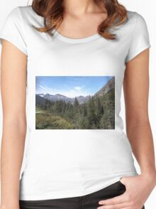 Alaska, USA. The White Pass and Yukon Route Women's Fitted Scoop T-Shirt