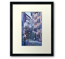 July in Florence Framed Print