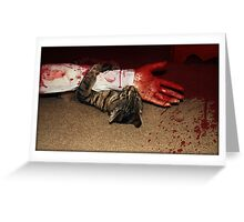 Blood Bath In Paradise Greeting Card