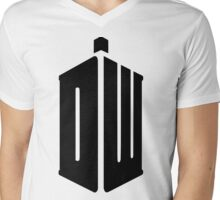 Doctor Who logo poster and t shirt Mens V-Neck T-Shirt