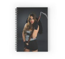 Grim reaper female DEATH carrying scythe Spiral Notebook
