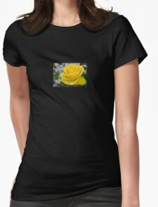 Beautiful Yellow Rose with Natural Garden Background T-Shirt