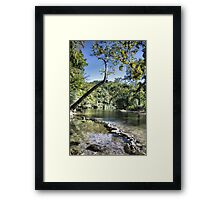 Blue Spring at Hammond Camp Framed Print