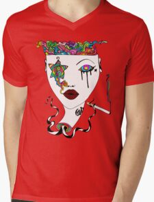 Cig Smoke Mens V-Neck T-Shirt