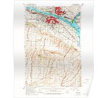 USGS Topo Map Washington State WA Pasco 243089 1964 62500 Poster