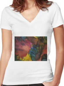 Abstract 1052 Women's Fitted V-Neck T-Shirt