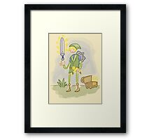 You find Sword? Framed Print